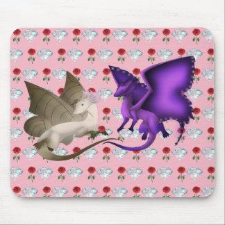 Tapis de souris de dragon de papillon de BFF