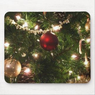 Tapis De Souris De Noël de l'arbre I de vacances vert et rouge