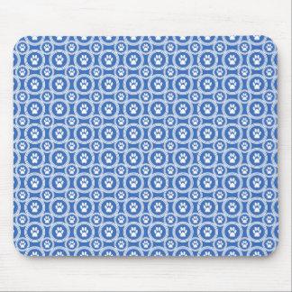 Tapis de souris de Patte-pour-Style (bleu)
