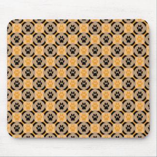 Tapis de souris de Patte-pour-Style (moutarde)