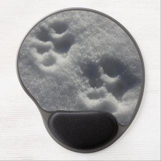Tapis de souris de pattes de neige