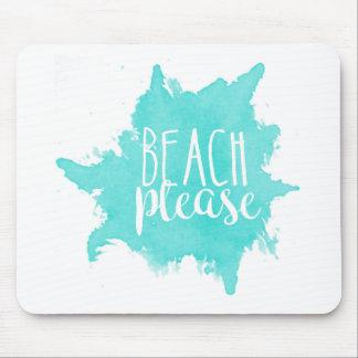Tapis De Souris De plage blanc svp