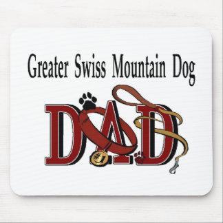 Tapis De Souris De plus grands cadeaux suisses de papa de chien de