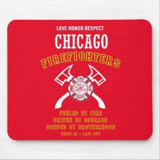 Tapis de souris de sapeurs-pompiers de Chicago