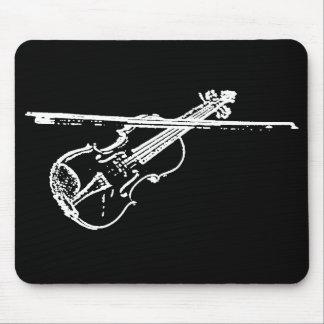 Tapis de souris de violon - tordu/a érodé - B/W