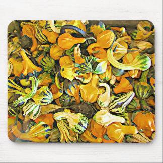 Tapis de souris décoratif de courge de citrouille