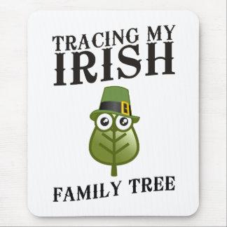Tapis De Souris Découverte de mon arbre généalogique irlandais