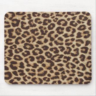 Tapis de souris d'empreinte de léopard