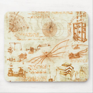Tapis De Souris Dessin technique et croquis par Leonardo da Vinci