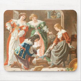 Tapis De Souris Dessin vintage : Cendrillon et la pantoufle en