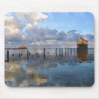 Tapis De Souris Destination de voyage de Caye Belize d'ambre gris