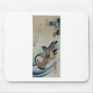 Tapis De Souris Deux canards de mandarine par Hiroshige