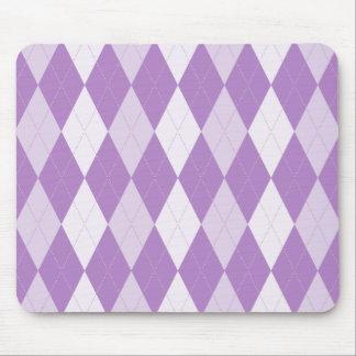 Tapis De Souris Diamant à motifs de losanges pourpre de violette