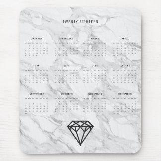 Tapis De Souris Diamant de 2018 calendriers avec du marbre
