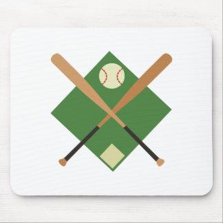 Tapis De Souris Diamant de base-ball