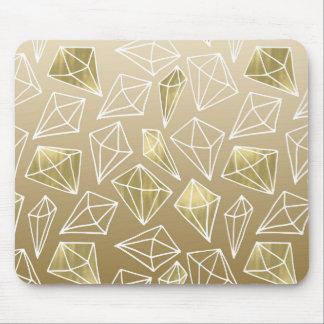 Tapis De Souris Diamants chics d'or