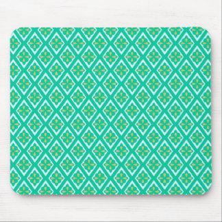 Tapis De Souris Diamants médiévaux - vert turquoise et aqua