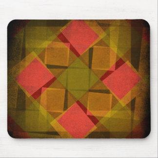 Tapis De Souris Diamants vintages et motif de carrés