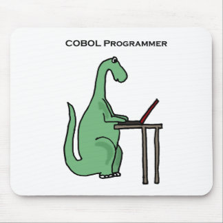 Tapis De Souris Dinosaure drôle de programmeur de COBOL