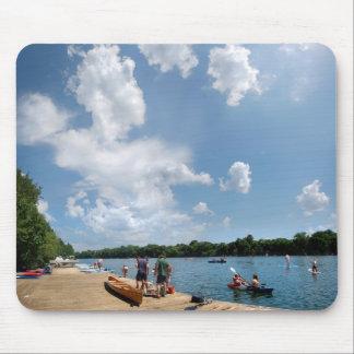 Tapis De Souris Dock d'aviron de lac ladybird - Austin le Texas
