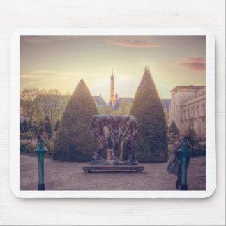 Tapis De Souris D'or de l'heure d'à de Rodin jardin du musée