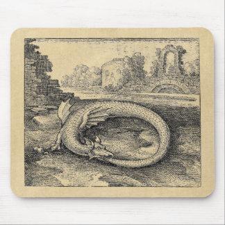 Tapis De Souris Dragon mythique d'Ouroboros