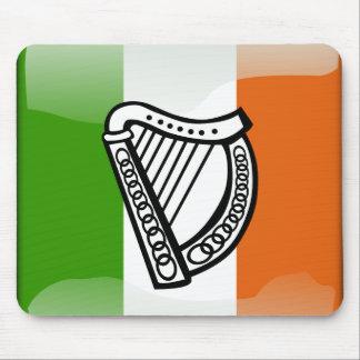 Tapis De Souris Drapeau brillant irlandais