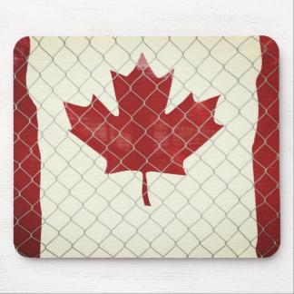 Tapis De Souris Drapeau du Canada. Barrière de maillon de chaîne.