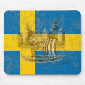 Tapis De Souris Drapeau et symboles de la Suède ID159