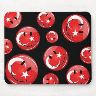 Tapis De Souris Drapeau turc de sourire
