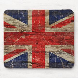 Tapis De Souris Drapeau vintage en bois d'Union Jack