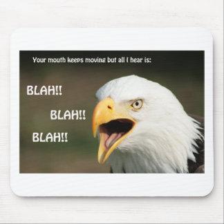 Tapis De Souris Eagle chauve américain avec le texte