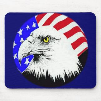 Tapis De Souris Eagle chauve et drapeau américain
