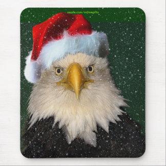 Tapis De Souris Eagle chauve et Noël Mousepad de chutes de neige