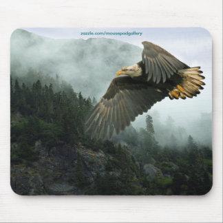 Tapis De Souris Eagle chauve et région sauvage Mousepads de forêt