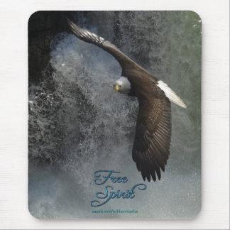Tapis De Souris Eagle chauve volant et cascade Mousepad