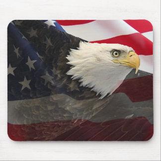 Tapis De Souris Eagle et drapeau