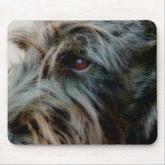 Tapis De Souris Écossais Terrier, noir, fin vers le haut de tête