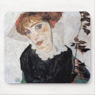"""Tapis De Souris Egon Schiele , """" Portrait of Wally """""""