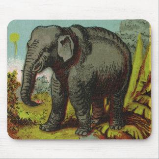 Tapis De Souris éléphant antique Mousepad de 1880s