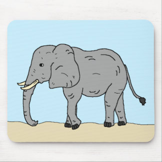 Tapis De Souris Éléphant dans la savane