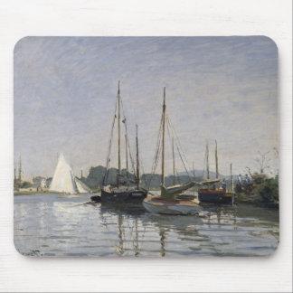 Tapis De Souris Embarcations de plaisance de Claude Monet  ,