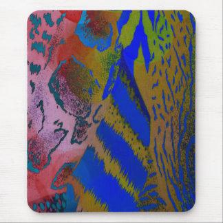 Tapis De Souris Empreinte de léopard animal coloré farfelu