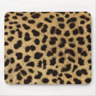 Tapis De Souris empreinte de léopard d'animal sauvage de safari