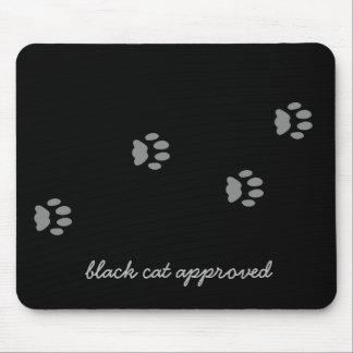 Tapis De Souris Empreinte de patte approuvé Mousepad de chat noir
