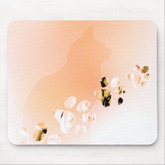 Tapis De Souris Empreintes de pattes de chat, chien, chiot pour