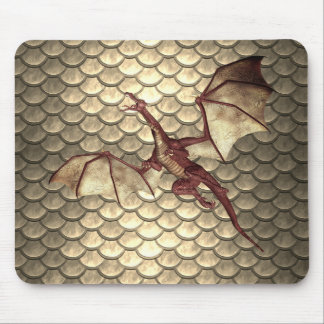 Tapis de souris en bronze fané d'imaginaire