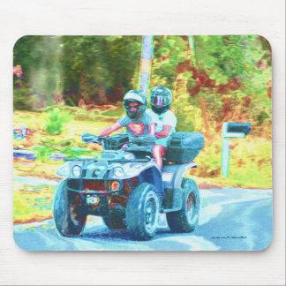 Tapis De Souris Enfants montant un ATV tout le véhicule de terrain