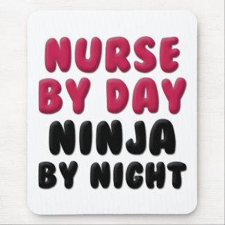 Tapis De Souris Énonciation mignonne de Ninja d'infirmière
