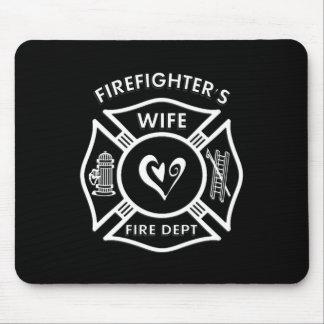 Tapis De Souris Épouse de sapeurs-pompiers